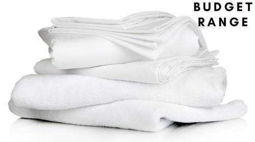 Budget Full Bedding Pack - Includes Pillow, Duvet, Pillowcase, Duvet Cover and Fitted Sheet
