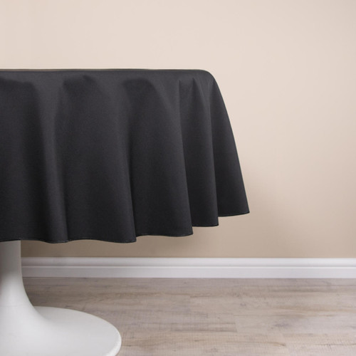 Easy Iron Plain 100percent Polyester Round Tablecloths