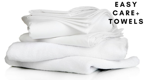 Easy Care Full Bedding Pack With Towels- Includes Pillow, Duvet, Pillowcase, Duvet Cover and Fitted Sheet