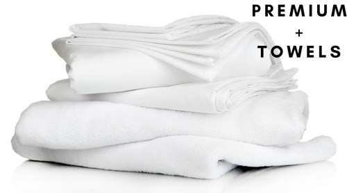 Premium Full Bedding Pack with Towels- Includes Pillow, Duvet, Pillowcase, Duvet Cover and Fitted Sheet