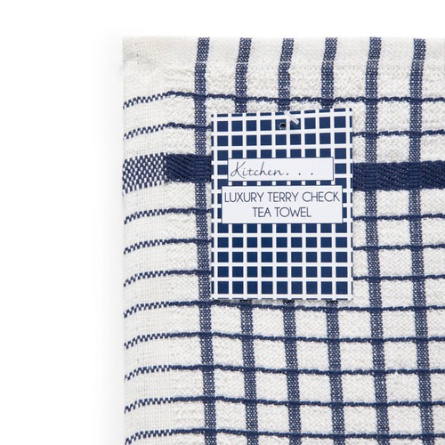 Luxury Terry Check Tea towels