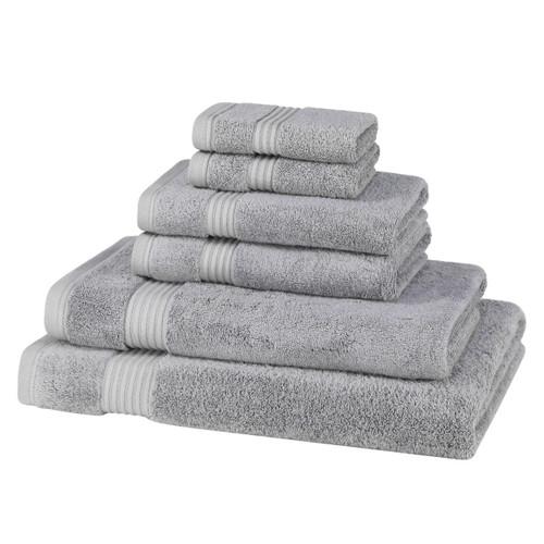 6 Piece 700 GSM Bamboo Towel Set - 2 Face Cloths, 2 Hand Towels, 1 Bath Towel, 1 Bath Sheet
