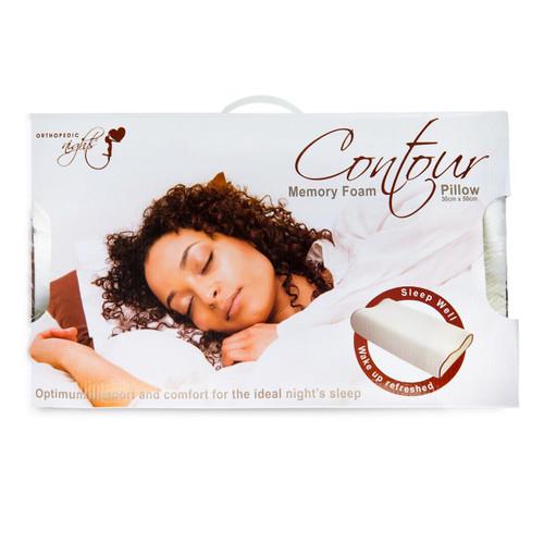 Large Memory Foam Contour Pillow - 40x60cm
