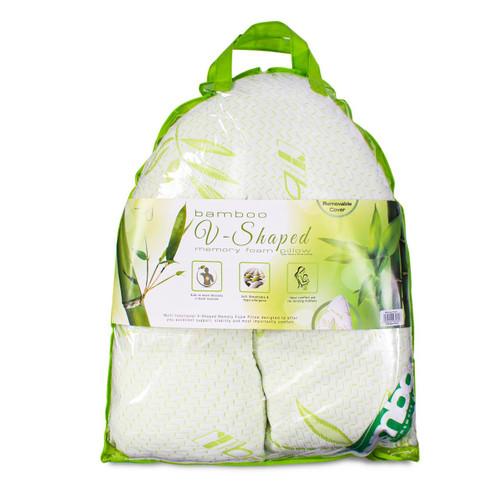 V-Shaped Bamboo Memory Foam Pillow
