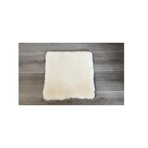 White Medical Sheepskin Seat Pad - Medium 40x40cm