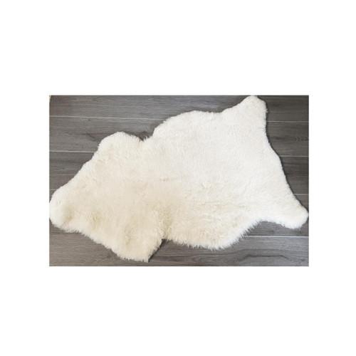 White Medical Sheepskin Mattress Overlay/Rug - Medium 90x60cm