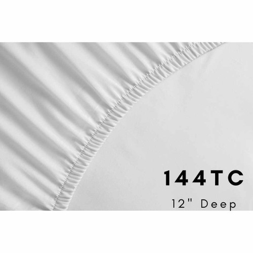144 Thread Count, 68 Pick - 12 Deep Fitted Sheets