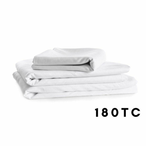 180TC Easy Iron - Percale Flat Sheets