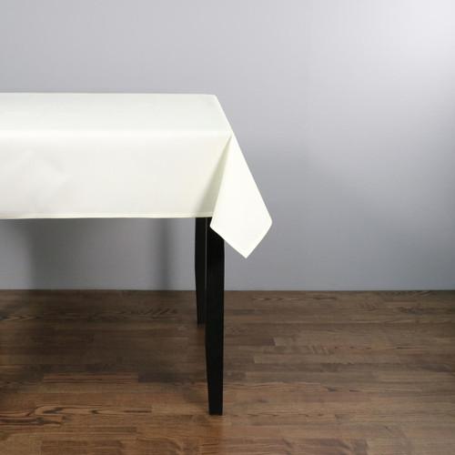 Easy Iron 100percent Polyester Plain Ivory Tablecloths - 45x45 114x114 cm