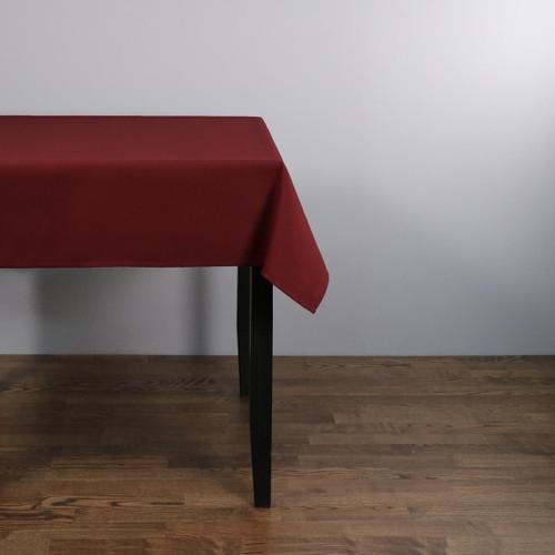 Easy Iron 100percent Polyester Plain Burgundy Tablecloths - 45x45 114x114 cm