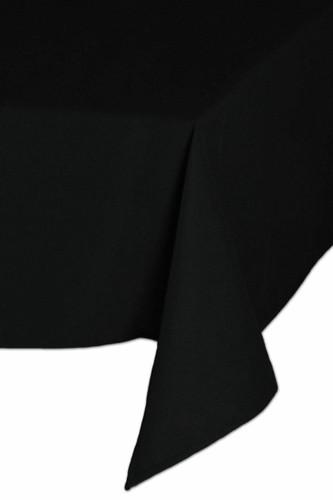 Easy Iron 100percent Polyester Plain Black Tablecloths - 52x70 132x178 cm