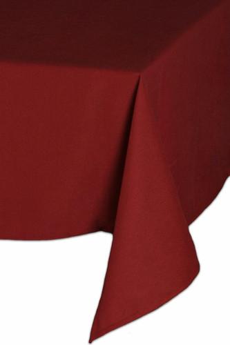Easy Iron 100percent Polyester Plain Burgundy Tablecloths - 63x63 160x160 cm