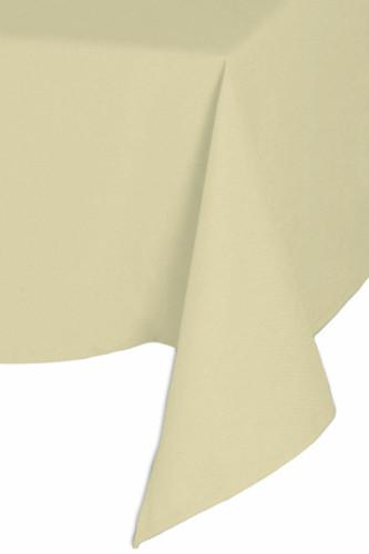 Easy Iron 100percent Polyester Plain Ivory Tablecloths - 70x144 178x366 cm
