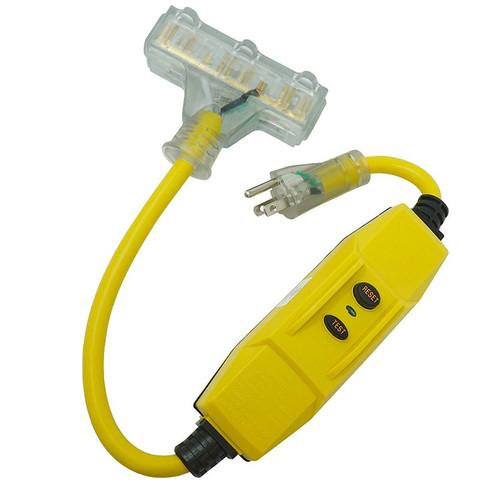 Southwire 26020008-6 Portable Safety GFCI 12/3, 15A Triple Outlet