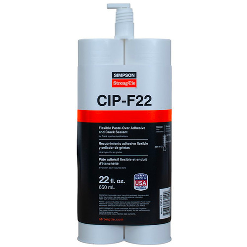 Simpson Strong-Tie CIP-F22 Peel-off Removeable Paste-Over Epoxy & Crack Sealant 22oz