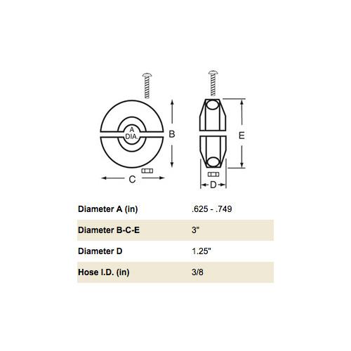 Reelcraft 1-HR1004-3 3/8 Hose Bumper