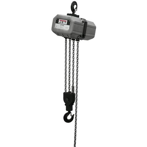 JET 312000 3SS-1C-20, 3-Ton Electric Chain Hoist 1-Phase 20' Lift