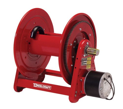 EA38106 M12D – 1/2 in. x 100 ft. Heavy Duty 12 V DC Motor Driven Pressure Wash Hose Reel