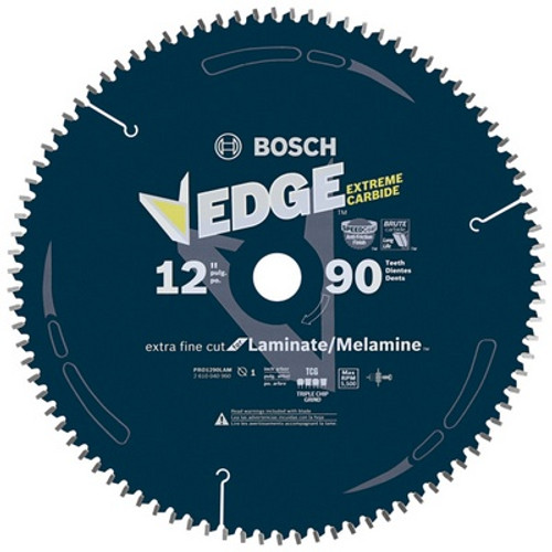 "BOSCH PRO1290LAM 12"" 90 Tooth Edge Circular Saw Blade for Laminate"