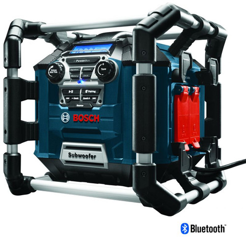 BOSCH PB360C Power Box Jobsite AM/FM Radio/Charger/Digital Media Stereo with 360 Degree Sound and Bluetooth