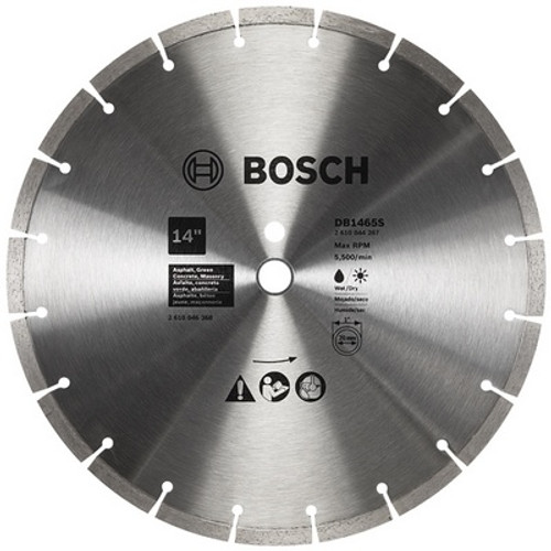 BOSCH DB1465S 14 In. Standard Segmented Rim Diamond Blade for Soft Materials