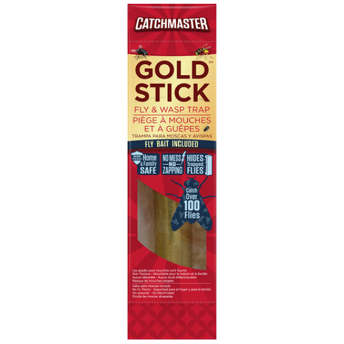 Catchmaster 912R Mini Gold Stick Fly Catcher With Fly Bait