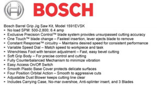 BOSCH JS470EB - 7.0A Barrel-Grip Jig Saw