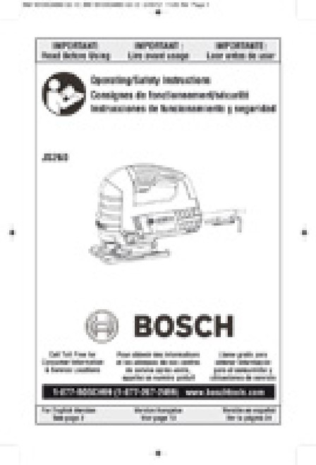 BOSCH JS260 6.0 A Top Handle Jig Saw