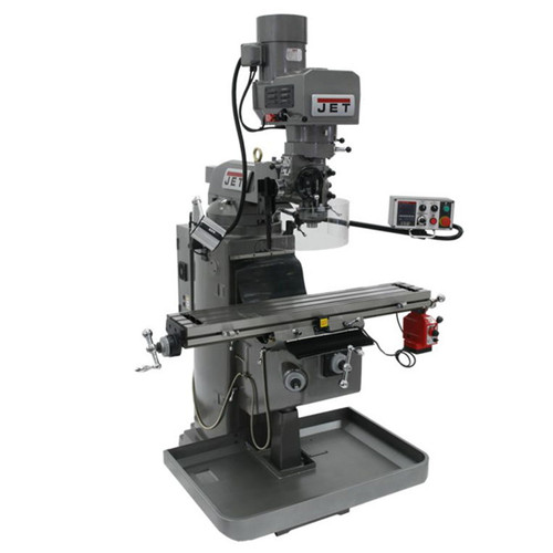 JET 690602 JTM-1050EVS2/230 Mill With X-Axis Powerfeed and Air Powered Draw Bar
