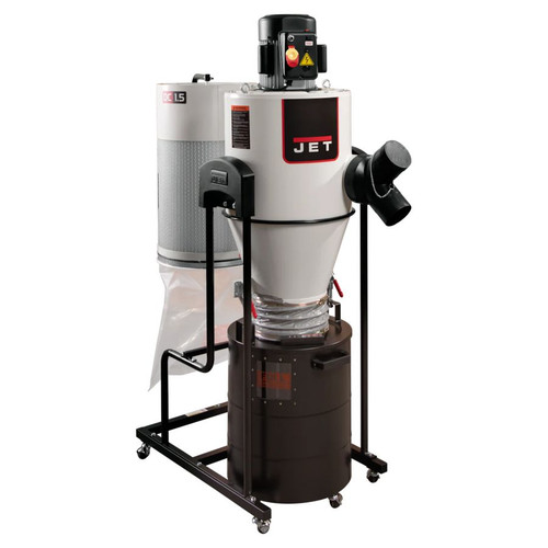 JET 717515 JCDC-1.5 Cyclone Dust Collector, 1.5HP, 115V