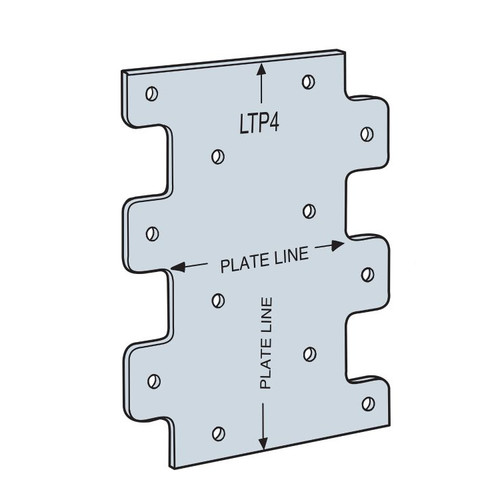 """Simpson Strong-Tie LTP4Z 3"""" X 4-1/4"""" Lateral Tie Plate with ZMax Coating"""