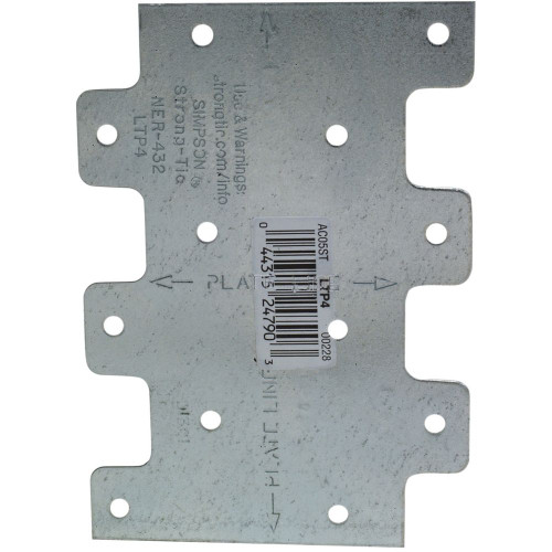 """Simpson Strong-Tie LTP4 3"""" X 4-1/4"""" Galvanized Lateral Tie Plate"""