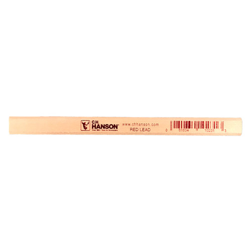 CH Hanson 10365 12 Count Boxed New Red Standard Lumber Crayon