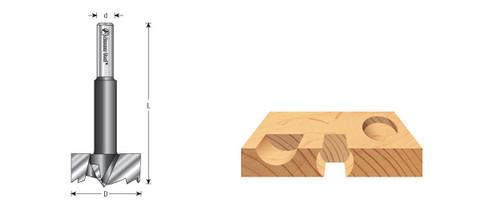 "Amana FO-562 Multi-Tooth High Carbon Steel Forstner Bit 2-3//8 D x 1//2/"" Shank"