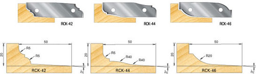 Amana RCK-42 Pair of Knives for Insert Raised Panel Cutterhead no. 61260 Profile
