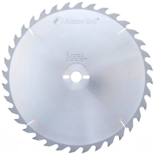 "Amana 616360-30 Carbide Tipped Ripping Standard 16"" D x 32T FT, 18 Deg, 30MM Bore, Circular Saw Blade"