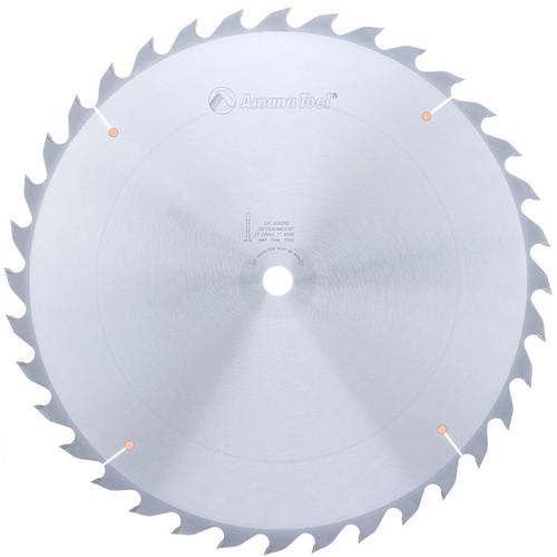 "Amana 620360 Carbide Tipped Ripping Standard 20"" D x 36T FT, 18 Deg, 1"" Bore, Circular Saw Blade"