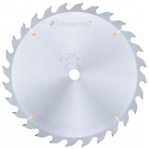 "Amana 614280 Carbide Tipped Ripping Standard 14"" D x 28T FT, 18 Deg, 1"" Bore, Circular Saw Blade"