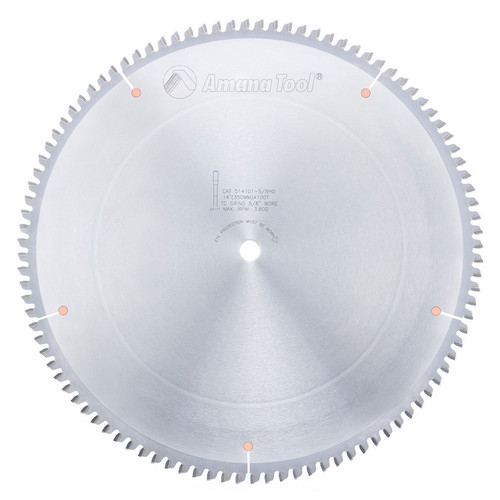 "Amana 514101-5/8HD Carbide Tipped Aluminum and Non-Ferrous Metals 12"" D x 96T TCG, -6 Deg, 5/8 Bore, Circular Saw Blade"