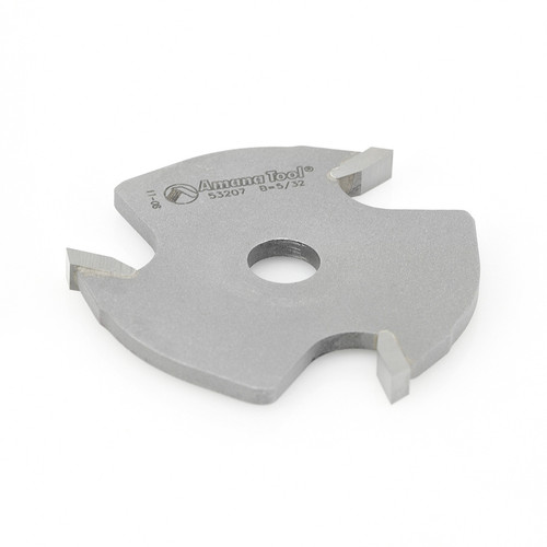 Amana 53207 Slotting Cutter 3 Wing x 1-7/8 D x 5/32 CH x 5/16 Inner D