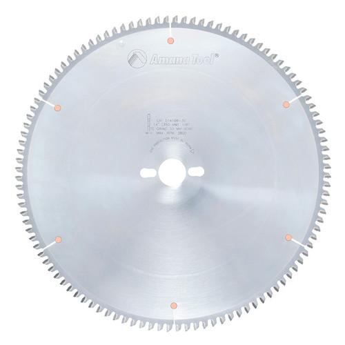 "Amana 514108-30 Carbide Tipped Aluminum and Non-Ferrous Metals 14"" D x 108T TCG, -6 Deg, 30MM Bore, Circular Saw Blade"
