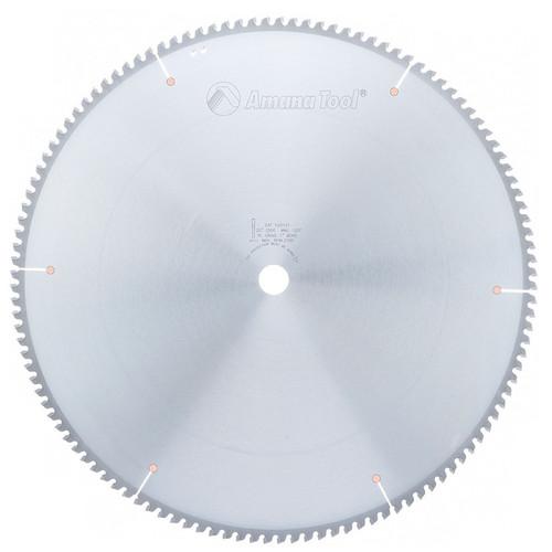 "Amana 520121 Carbide Tipped Aluminum and Non-Ferrous Metals 20"" D x 100T TCG, -6 Deg, 1"" Bore, Circular Saw Blade"