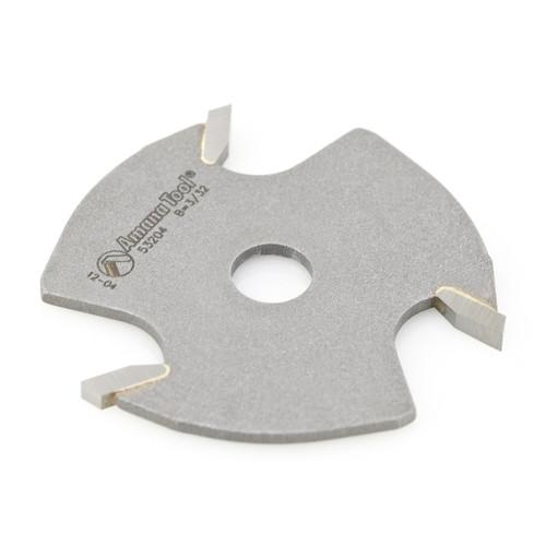 Amana 53204 Slotting Cutter 3 Wing x 1-7/8 D x 3/32 CH x 5/16 Inner D