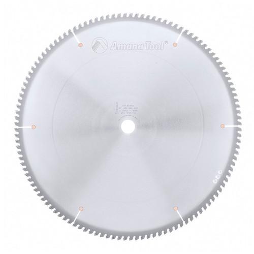 "Amana 518121 Carbide Tipped Aluminum and Non-Ferrous Metals 18"" D x 120T TCG, -6 Deg, 1"" Bore, Circular Saw Blade"