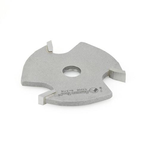 Amana 53208 Slotting Cutter 3 Wing x 1-7/8 D x 3/16 CH x 5/16 Inner D