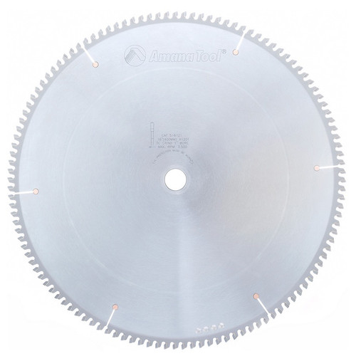 "Amana 516121 Carbide Tipped Aluminum and Non-Ferrous Metals 16"" D x 120T TCG, -6 Deg, 1"" Bore, Circular Saw Blade"