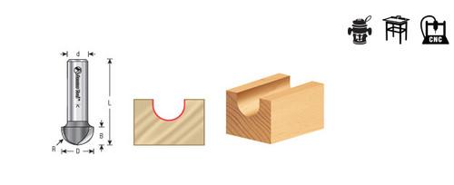 45905 Carbide Tipped Core Box 5//32 Radius x 5//16 Dia x 3//4 x 1//2 Shank Amana Tool