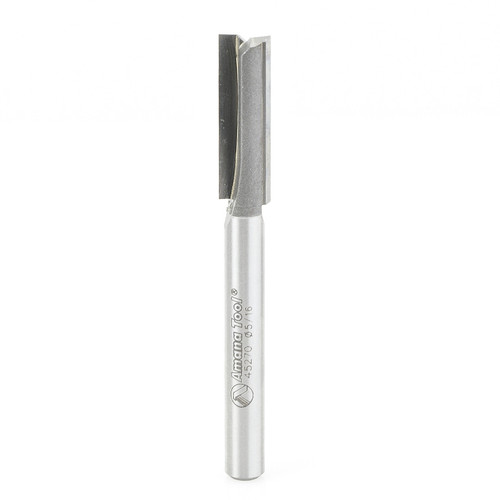 """Amana 45270 Carbide Tipped Leigh Straight Plunge 5/16 D x 1.03 CH x 1/4"""" Shank Router Bit"""