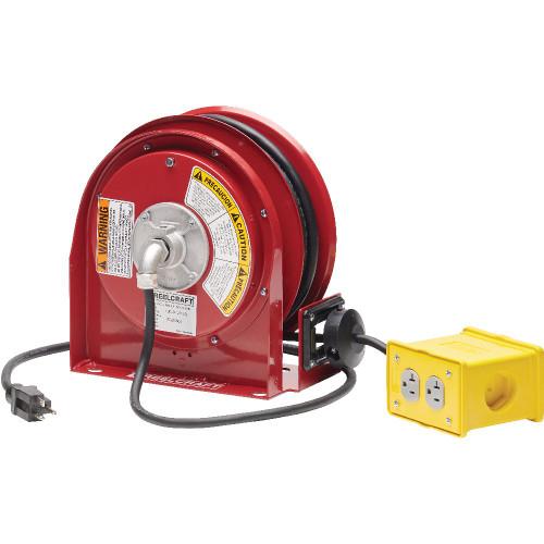 L 3030 123 7Q – 12/3 30 ft. Quad Outlet Box Power Cord Reel