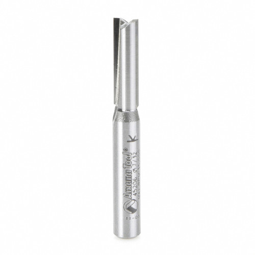 """Amana 45206 Carbide Tipped Undersized Plywood Dado Plunge 7/32 D x 3/4 CH x 1/4"""" Shank Router Bit for Plywood Thickness"""